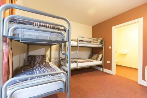 A bunk bed or bunk beds in a room at Rowan Tree Hostel