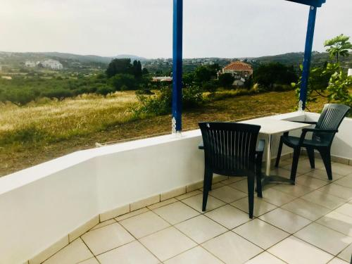 A balcony or terrace at Contaratos Holiday Lettings