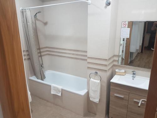 Un baño de Hospedaje Magallanes