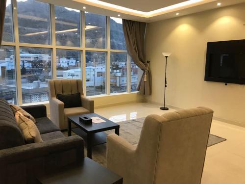 Uma área de estar em Ladera Hotel Tanomah