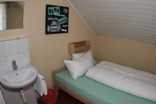Cama o camas de una habitación en Bern Backpackers Hotel Glocke