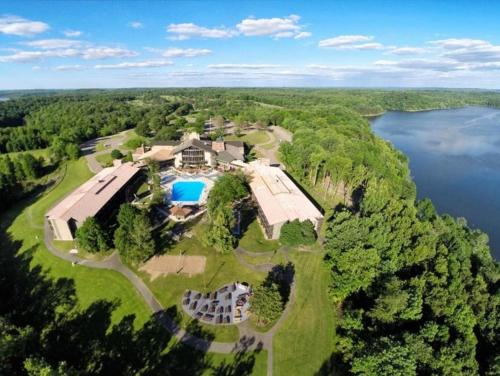 A bird's-eye view of Salt Fork State Park Lodge and Conference Center