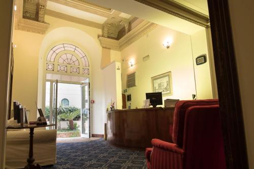 The lobby or reception area at Hotel Villa Delle Rose