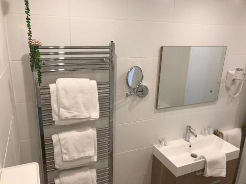 A bathroom at Hotel Mimosa Scheveningen