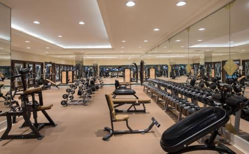 The fitness center and/or fitness facilities at Jeddah Hilton
