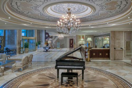 The lobby or reception area at Elite World Istanbul Hotel