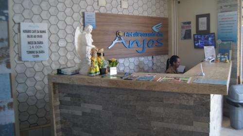 The lobby or reception area at Hotel Pousada dos Anjos