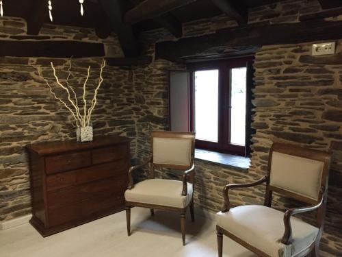 Uma área de estar em Andurina De Los Oscos