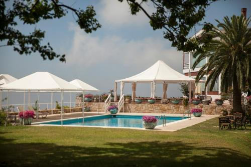 The swimming pool at or near Hotel Al Bustan