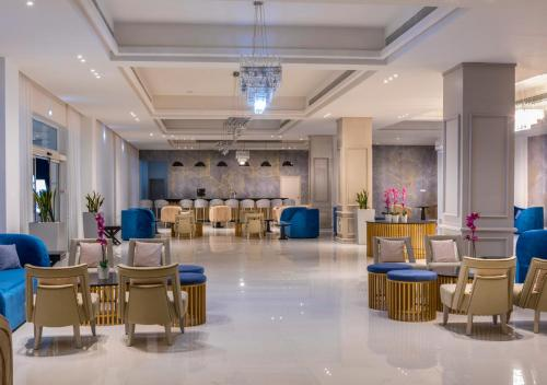 The lobby or reception area at Constantinos the Great Beach Hotel