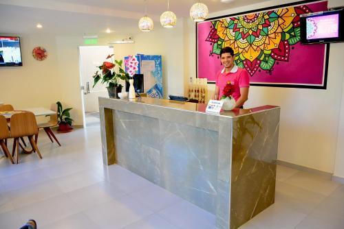 El vestíbulo o zona de recepción de Mandala Hotel