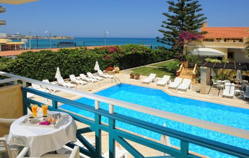 A view of the pool at Petra Beach Hotel or nearby