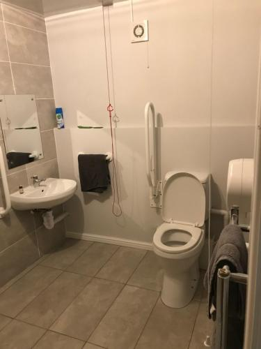 A bathroom at The Charles Dickens