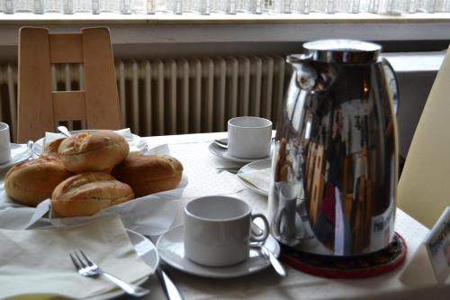 Breakfast options available to guests at Eifelhof Weina
