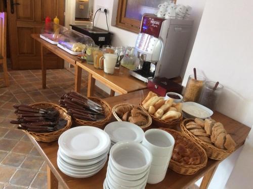 Možnosti snídaně pro hosty v ubytování Penzion U Černého Potoka
