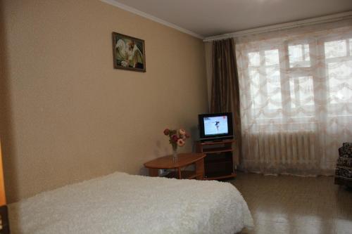 Телевизор и/или развлекательный центр в Апартаменты на Пермякова
