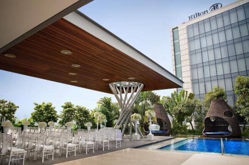 The swimming pool at or near Hilton Bandung