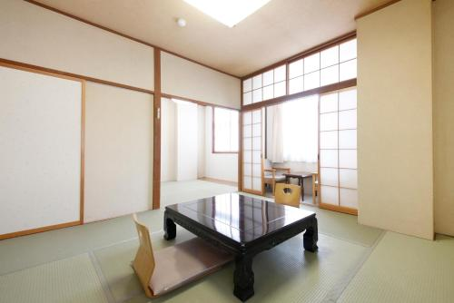 A seating area at Matsukaneya Annex