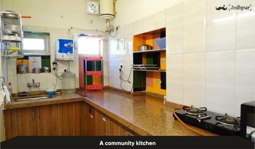 A kitchen or kitchenette at Moustache Jodhpur