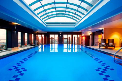 The swimming pool at or near Sheraton Grand Sydney Hyde Park