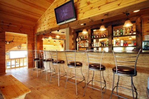 Лаундж или бар в База Отдыха Алтан