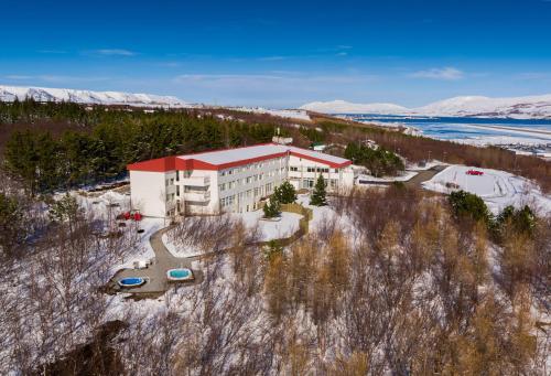 A bird's-eye view of Hotel Kjarnalundur