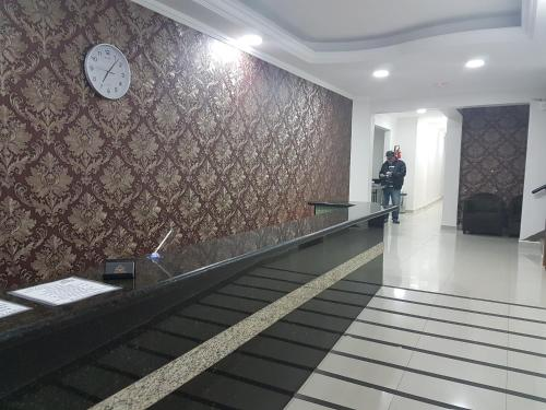 The lobby or reception area at Hotel Rio Branco