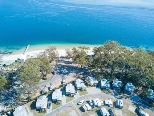 A bird's-eye view of Halifax Holiday Park
