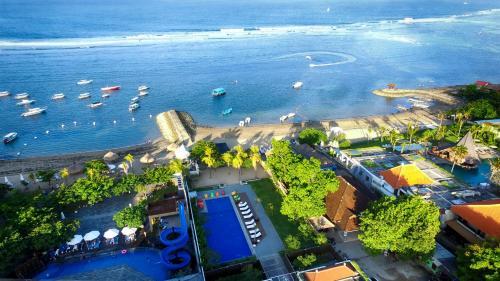 A bird's-eye view of Benoa Sea Suites and Villas