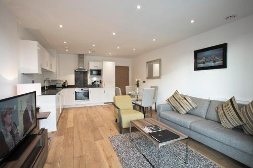 A seating area at O2 Arena Apartments