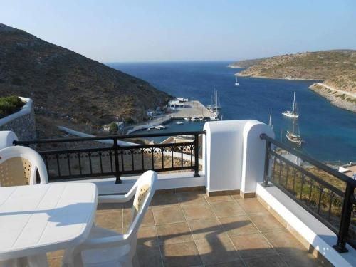 Een balkon of terras bij Studios Ageri