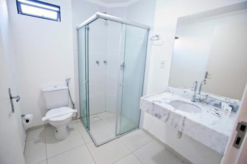 A bathroom at Hotel Refugio