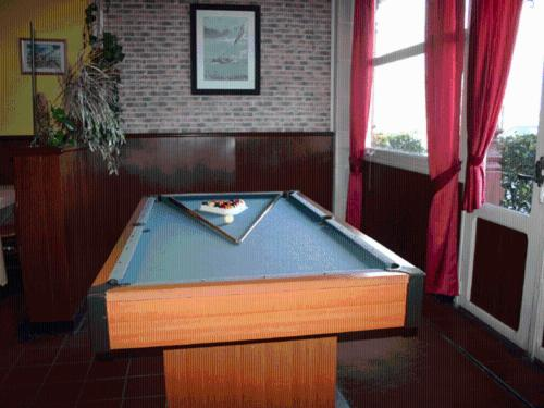 A pool table at Hotel Du Parc