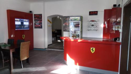 Lobby/Rezeption in der Unterkunft Schloss Stare Hobzi