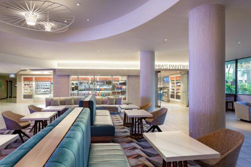 A restaurant or other place to eat at Miami Airport Marriott