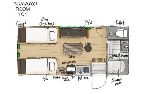 The floor plan of TOMARO Osaka Bay