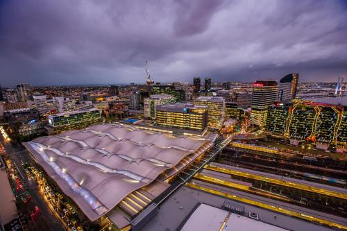 A bird's-eye view of Southern Cross Serviced Apartments