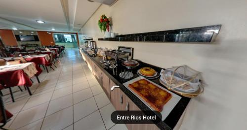A restaurant or other place to eat at Entre Rios Hotel