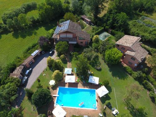 Vista aerea di B&B Villa il Noce