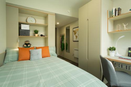 Cama o camas de una habitación en LIV Dublin