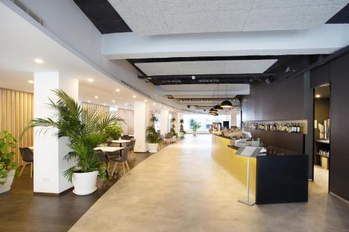The lobby or reception area at Planet One Hotel