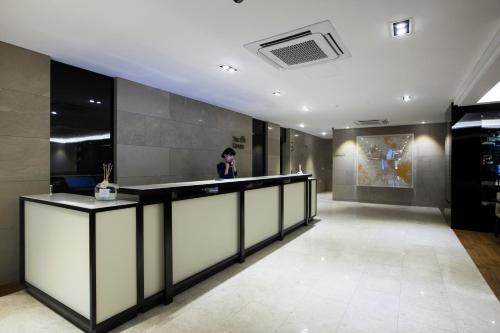 The lobby or reception area at The Grand Hotel Myeongdong
