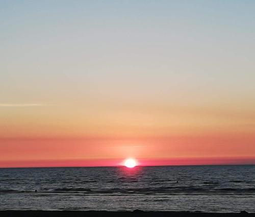 Blick auf den Sonnenuntergang/Sonnenaufgang von des Bed & Breakfasts aus oder aus der Nähe