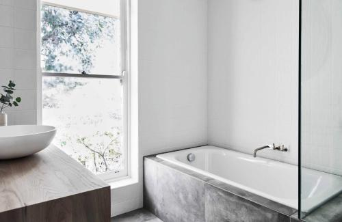 A bathroom at Seville Estate