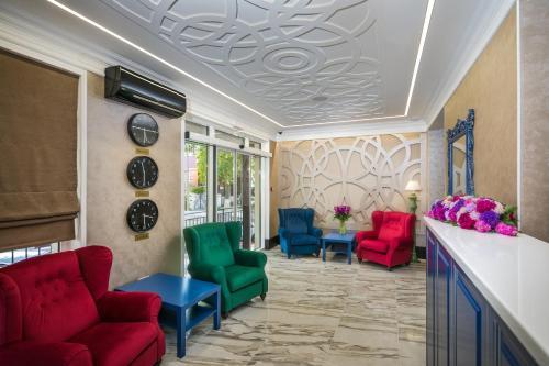 Гостиная зона в Отель Марсель