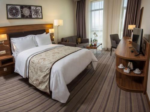 Łóżko lub łóżka w pokoju w obiekcie Best Western Premier Sofia Airport Hotel