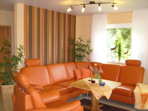 A seating area at Ferienwohnungen Mantke