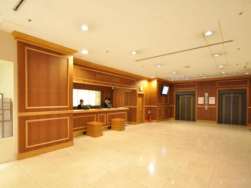 The lobby or reception area at Mito Keisei Hotel
