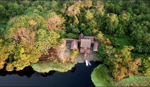 A bird's-eye view of Yaku Amazon Lodge & Expeditions