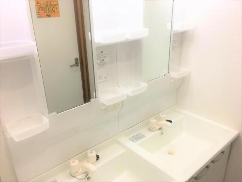 A bathroom at Kagoshima Little Asia